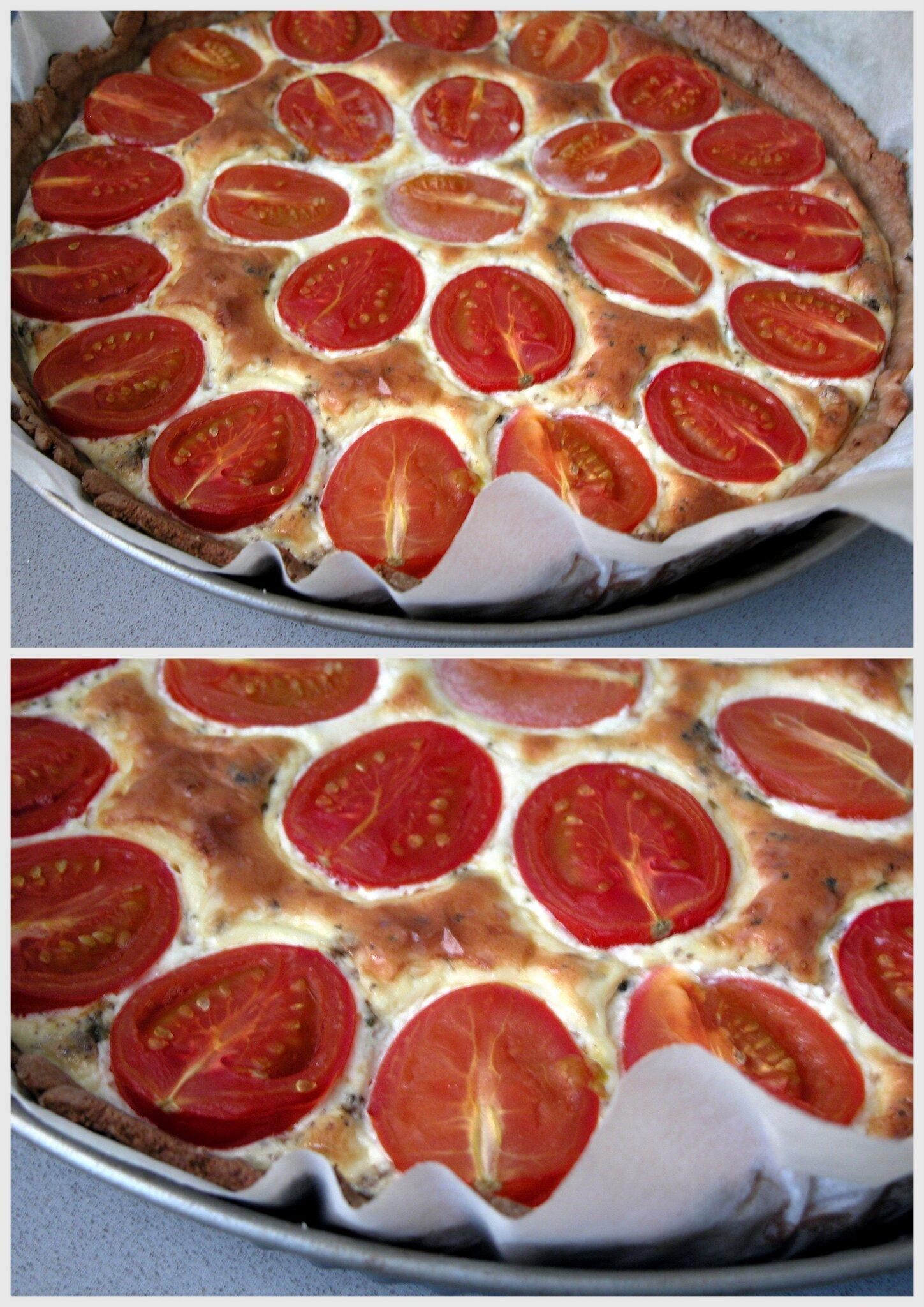 Tarte aux tomates cerises et la tapenade mes recettes for Dessert avec des cerises fraiches