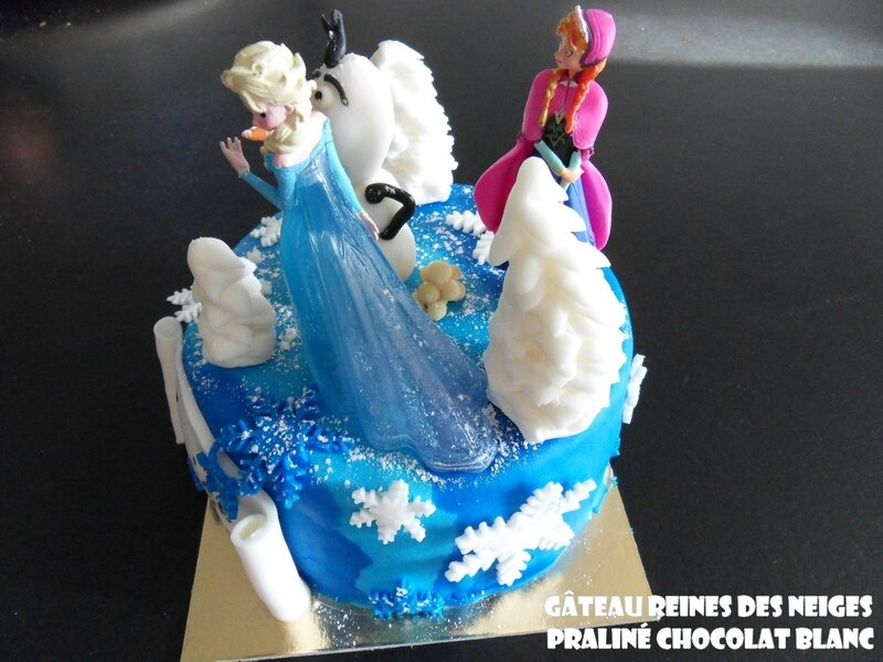 Gâteau reines des neiges pralné chocolat blanc2