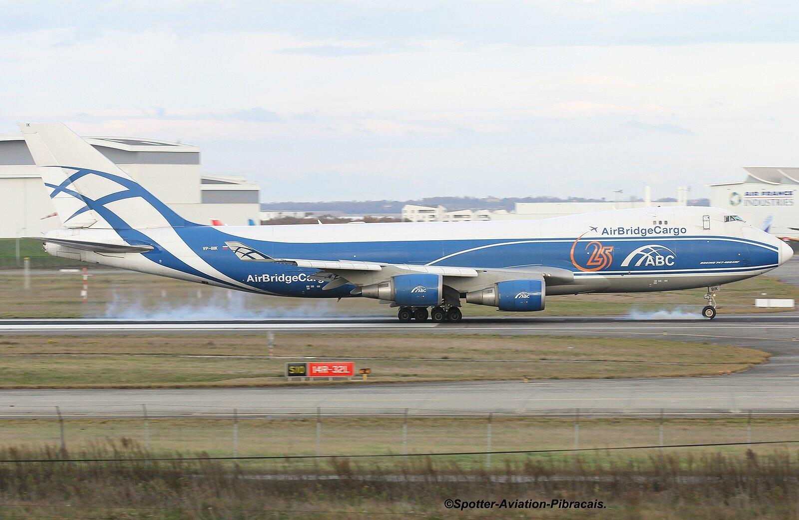 A roport toulouse blagnac tls lfbo airbridgecargo airlines boeing 747 46nf er vp bik msn - Aeroport blagnac adresse ...