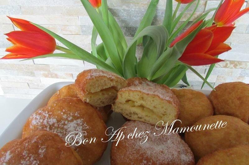 beignets farine et polenta à la pomme du verger 029