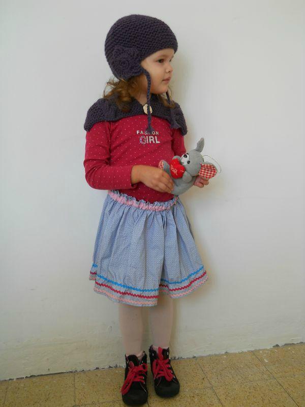 Bonnet Mamoizelle K et chauffe épaule