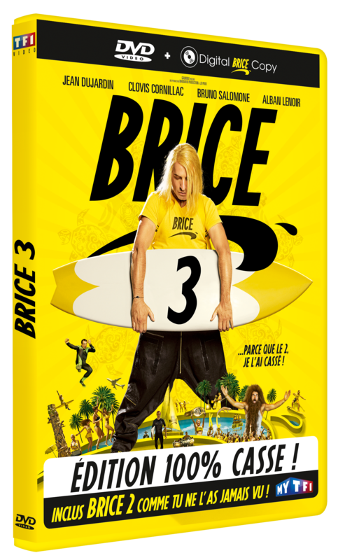 BRICE 3 DVD avec sticker