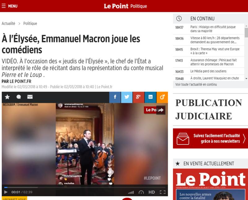 2018-03-02 20_55_16-À l'Élysée, Emmanuel Macron joue les comédiens - Le Point