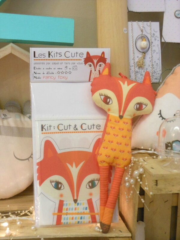 Doudou KIT CUTE-renard-zabeil