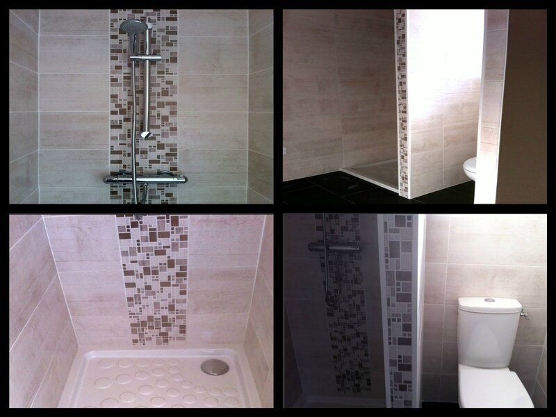 pose mosaique sur receveur wedi et faience 33 x 100. Black Bedroom Furniture Sets. Home Design Ideas