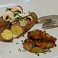 Quenelles à la sauce aux champignons - porto & topinambours rôtis