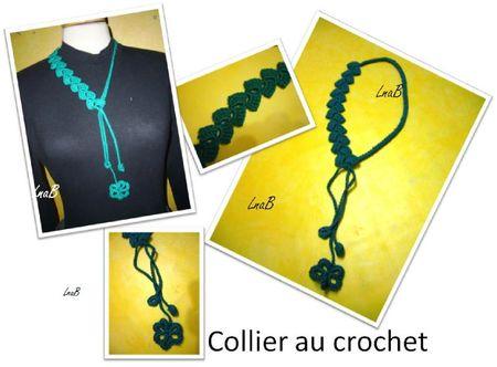 collier vert crochet