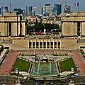 La Défense depuis le sommet de la tour Eiffel.