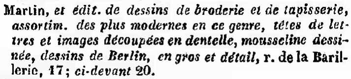 Almanach Bottin du commerce de Paris pour 1842