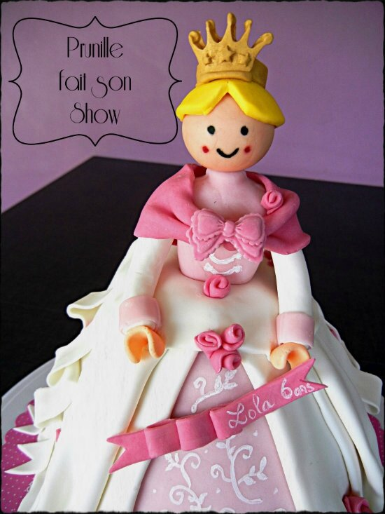 gateau playmobil princesse prunillefee 1