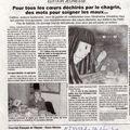 Article dans le journal courrier français de vienne - deux-sèvres