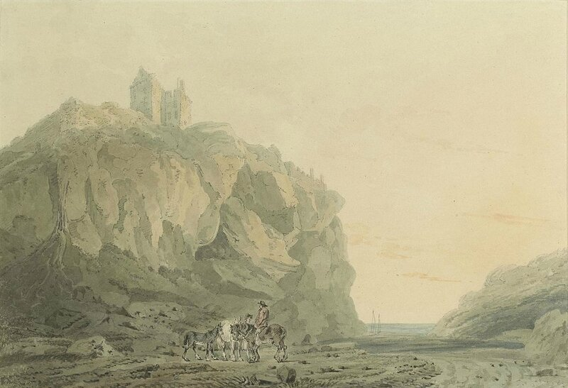 2017-02_Joseph_Mallord_William_Turner_-_Dunotter_Castle,_Kincardineshire