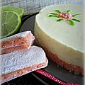 Cheesecake citron vert, noix de coco & biscuits roses de reims