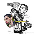 Cadeau aux tmoins de Mariage - Caricature Motard faon Joe Bar Team
