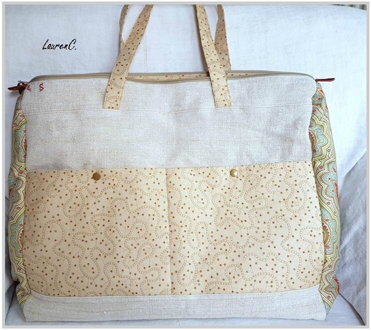 SAC CHANVRE BRODERIE CATHERINE DOS