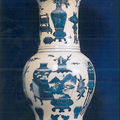 Paire de vases cornet yenyen. Chine, Dynastie Qing, XVIIIme si