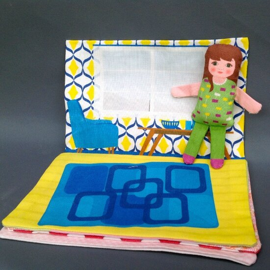 fabric doll book