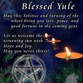 21 décembre (ou 22 selon les calendriers): solstice d' hiver, yule, midwinter, alban arthan, yuletide ou jour d'odin/wodan
