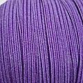 Elastique plat 6 mm violet
