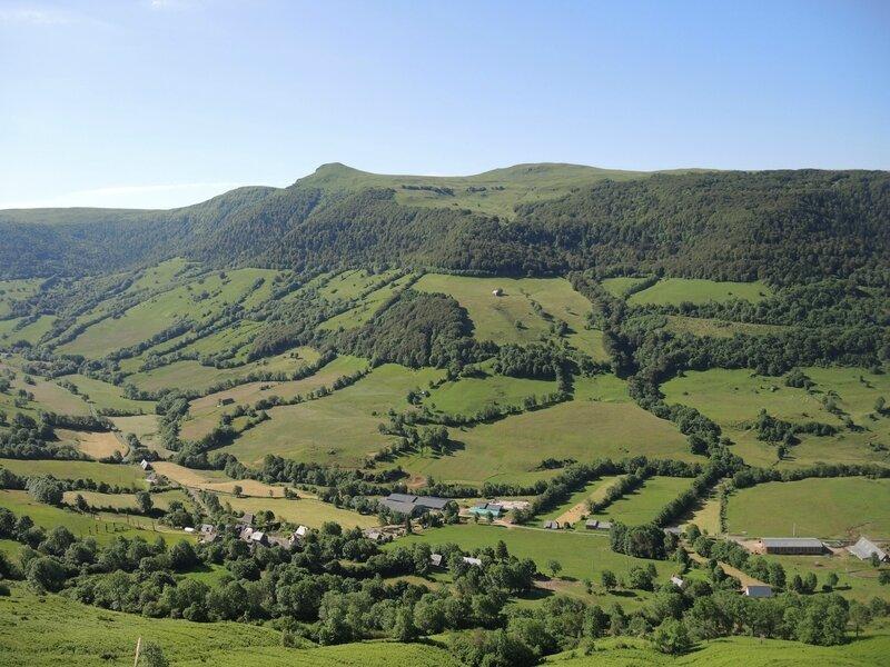 Col de Néronne, panorama sur la vallée de la Maronne