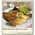 Poulet mariné au curry et citron