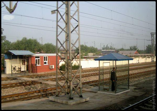 voies de chemin de fer de Chine grande vitesse et petite vitesse 06