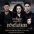 Détails des contenus des dvd/blu-ray de twilight chapitre 5 révélation