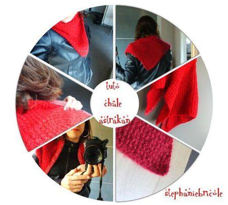 tuto chale astrakan, comment tricoter un chale