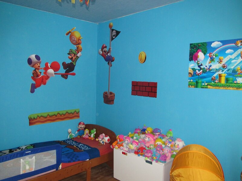 le d co chambre mario bros de celyna ma martinique madinina. Black Bedroom Furniture Sets. Home Design Ideas