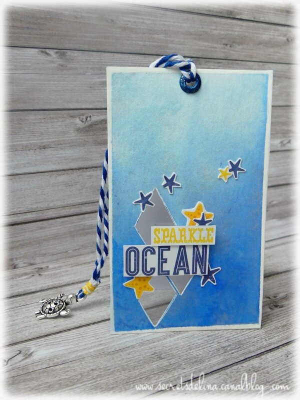 2017 06 - carte sparkle ocean de la LE mermaid adventure
