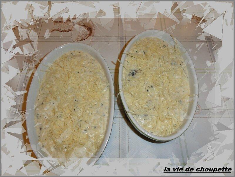 gratin de champignons de Paris frais-25