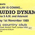 Big audio dynamite - mercredi 1er novembre 1989 - town and country club (london)