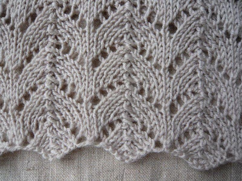 Une echarpe douce stipa et alpaga - Point de tricot ajoure pour echarpe ...