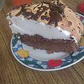 gateau au chocolat meringué
