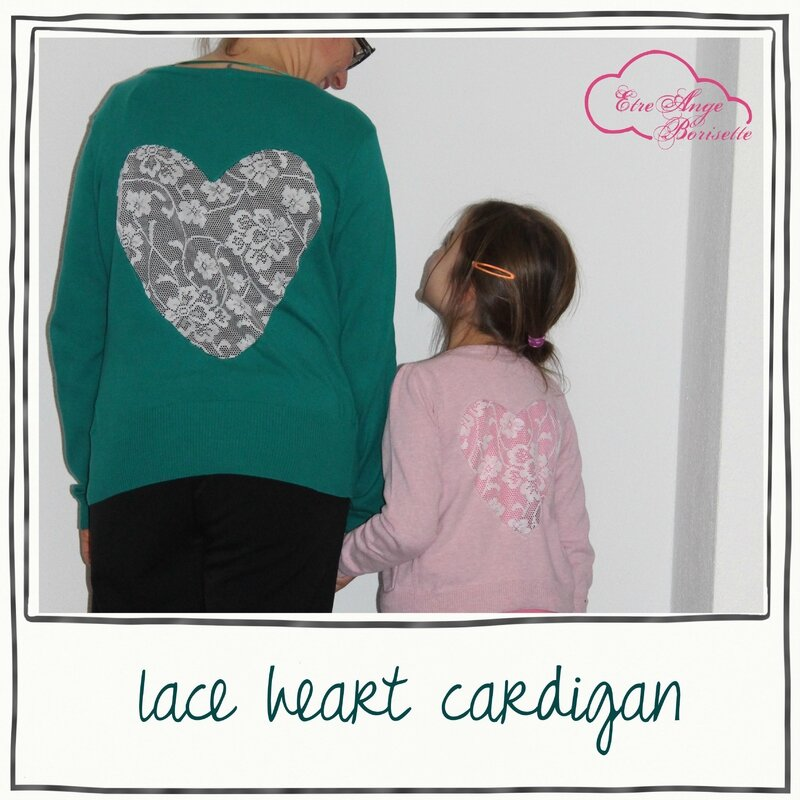 lace heart cardigan