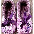 Ballerines et chaussons peints