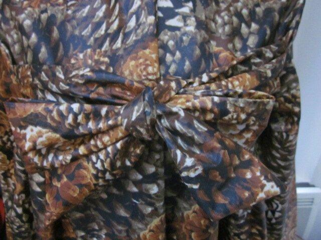 Ciré AGLAE en coton enduit imprimé pomme de pain fermé par un noeud dans le mm tissu (5)