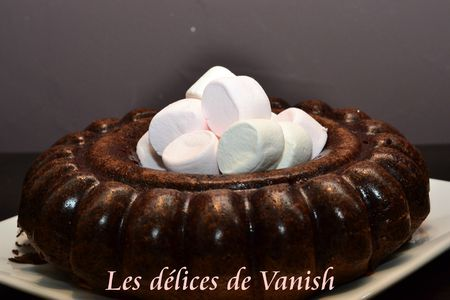 gâteau-chocolat-chamallows-flexipan-moule savarin