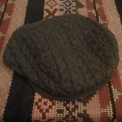 *Casquette béret tricot torsades