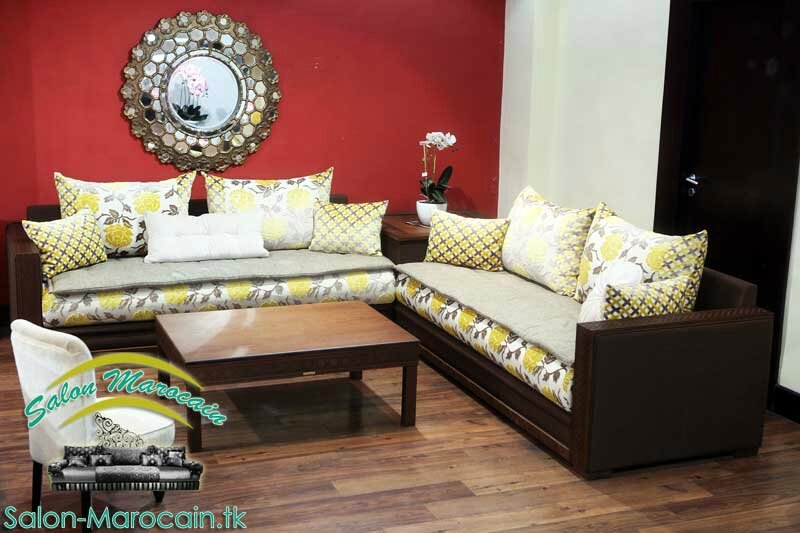 salon marocain moderne jaune salon marocain moderne. Black Bedroom Furniture Sets. Home Design Ideas