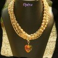 Collier Opéra ( bijou créateur )