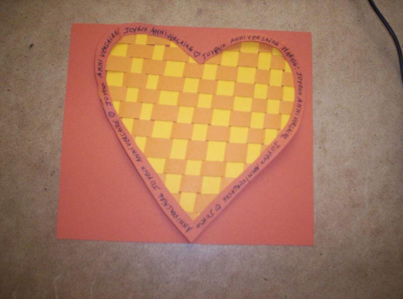 tissage de papier de couleurs