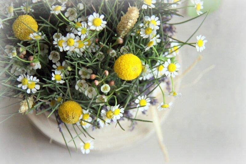 Mariage - Centre de table champêtre - création EstelleG pour La Saladelle - Atelier floral Perpignan et Pyrénées-Orientales 06
