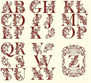 Alphabet Fleuri 48