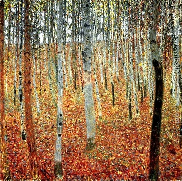 Klimt Forest of Beech Trees Gustav Klimt2