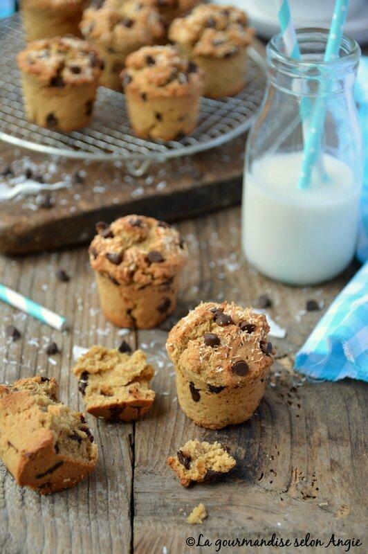 muffins vegan chocolat coco