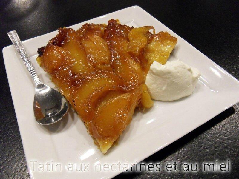 tatin aux nectarines et miel1