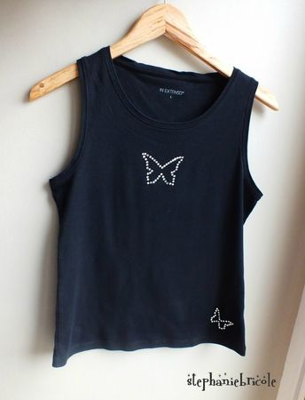 tee shirt customisé diy, tee shirt papillon comment faire