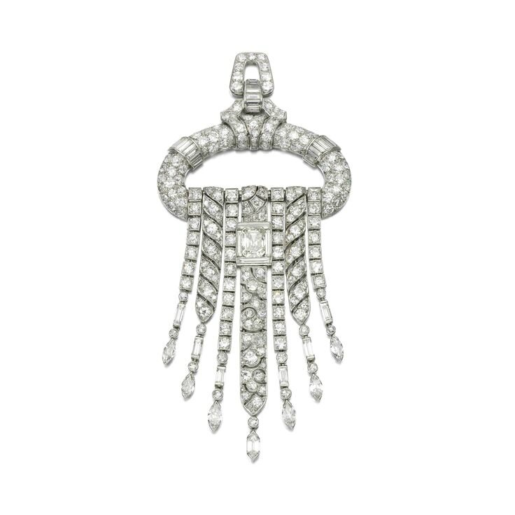 Diamond pendant-brooch, 1930s