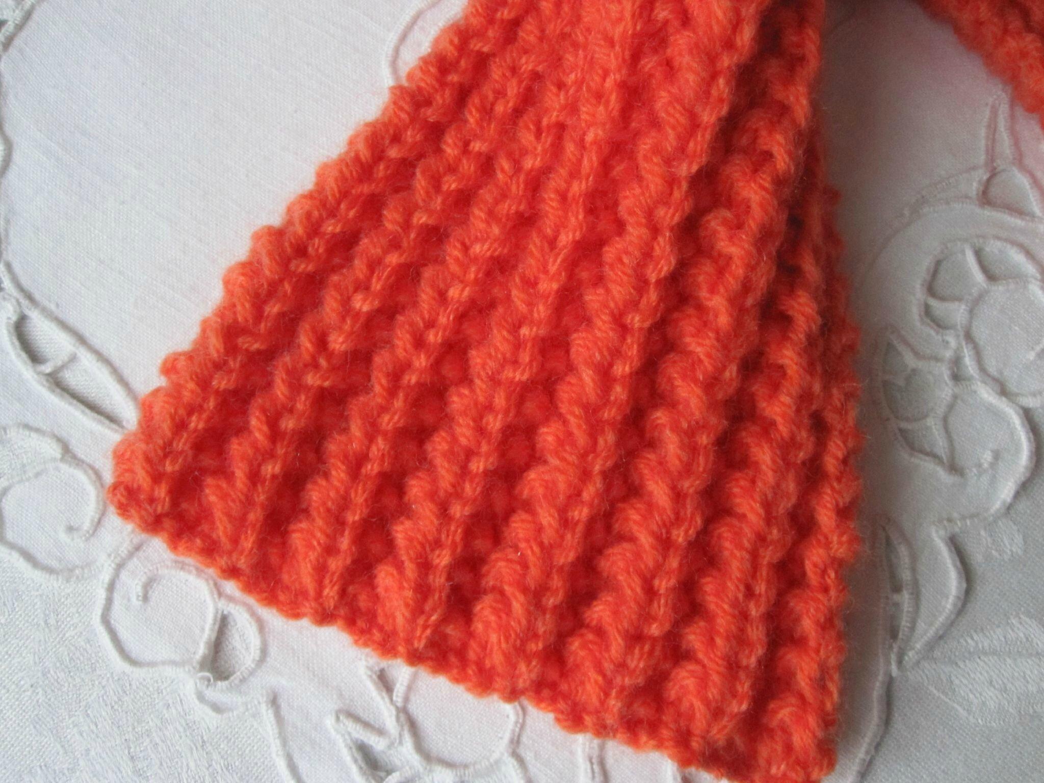 tricoter un snood fausse cote anglaise